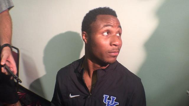 UK CB Derrick Baity after South Carolina win