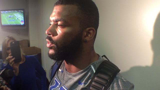 UK LB Courtney Love after South Carolina win