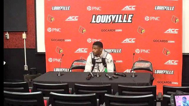 Louisville's Lamar Jackson after Clemson takes down the Cards