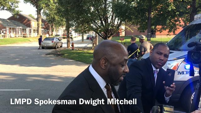 LMPD Spokesman Dwight Mitchell talks to the Courier-Journal about the crash.