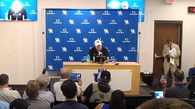 Kentucky's Stoops after heartbreaking loss to Florida