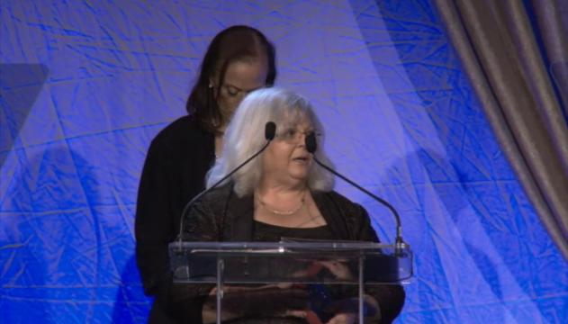 Susan Bro accepted a posthumous Social Justice Award for her daughter Heather Heyer who died while protesting while nationalists in Charlottesville, Va. during the Muhammad Ali Humanitarian Awards.