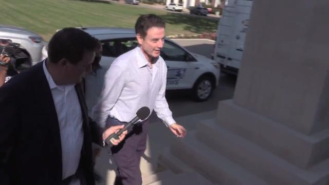 RAW: Rick Pitino arrives at U of L's Grawemeyer Hall