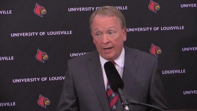 Louisville interim president Greg Postel talks about Rick Pitino, Tom Jurich
