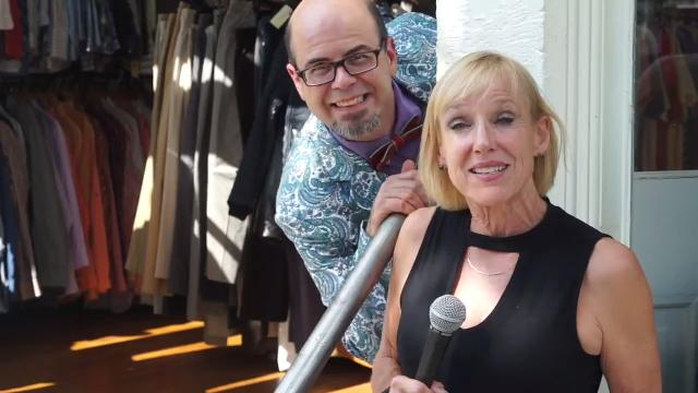 """Kirby Adams shops with Jason Smith, the winner of """"Food Network Star"""" and """"Best Baker in America."""""""