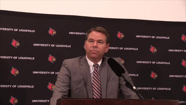Vince Tyra, U of L's new interim athletic director