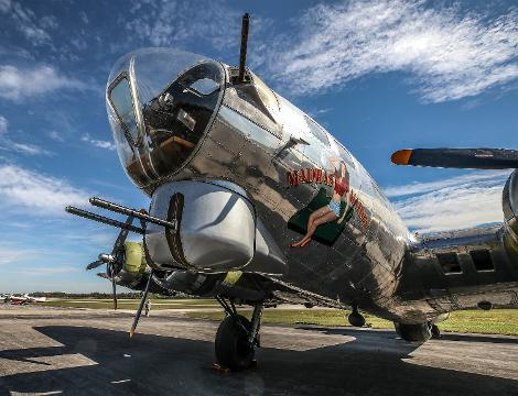 The B-17 Madras Maiden bomber, otherwise known as the Flying Fortress is in town and you can take a tour or take a ride!
