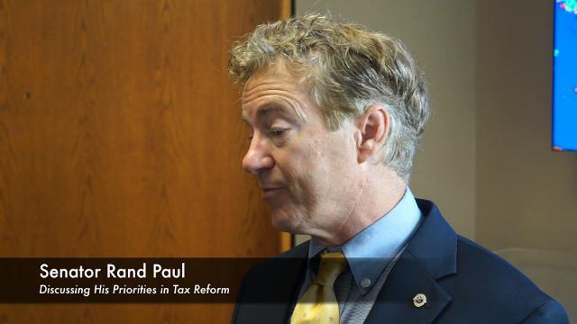 Sen. Rand Paul discusses tax reform at UPS training center