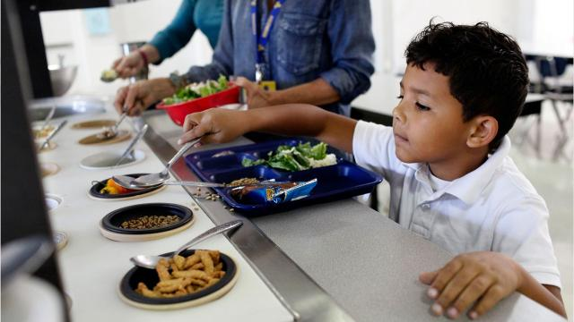 An inside look at the new lunches served at Ascension School.