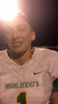 Floyd Central quarterback Matt Weimer spoke Friday after his team's big win over New Albany. Oct. 13, 2017