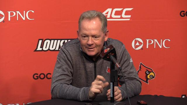 In his weekly press conference UofL coach Bobby Petrino talks about teaching his players adversity and how to play though it.