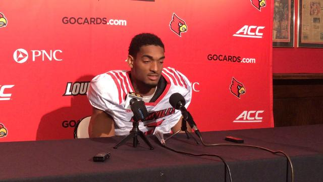 Bonnafon said he's had a chance to reflect on an eventful four years at Louisville.