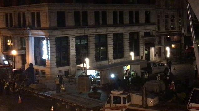 Statues of John Hunt Morgan and John Breckinridge are removed from downtown Lexington