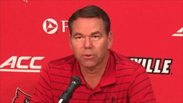 Louisville interim athletics director Vince Tyra gives updates Oct. 19