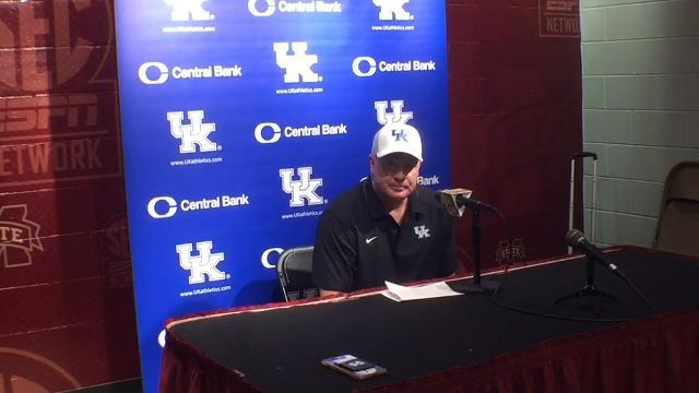 UK coach Mark Stoops after loss to Mississippi State