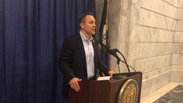 """Gov. Matt Bevin spoke in November 2017 and called sexual harassment allegations against House Speaker Jeff Hoover """"serious"""" and """"specific."""""""