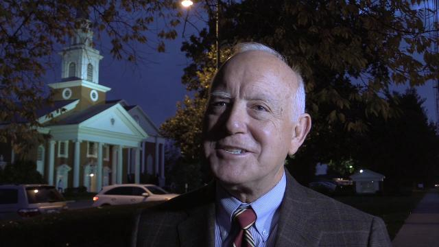Christ Church pastor George Strunk talked about hosting a vigil for Jason Spencer who was killed in the Cherokee Triangle neighborhood.  Spencer's wife was a former youth minister at the church.