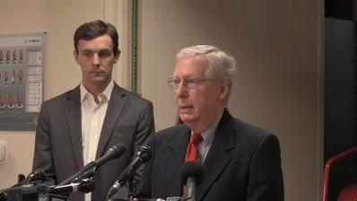 Mitch McConnell spoke with reporters about the senate tax reform
