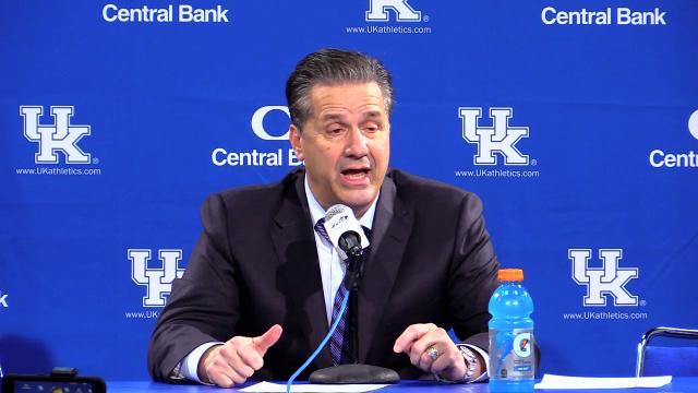 The Wildcats struggled early but managed to beat East Tennessee State. A chagrined Calipari was brutally honest in his assessment of his young team.