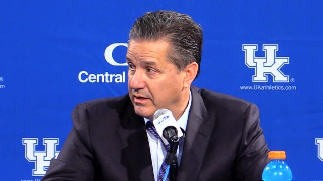 Even as his staff says the season is early John Calipari says he already has 'a noose around my neck.'