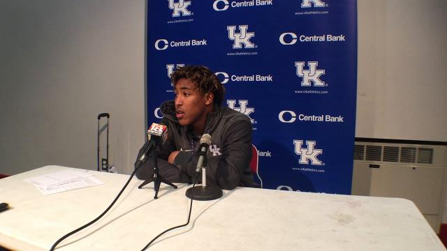 UK RB Benny Snell after Georgia loss