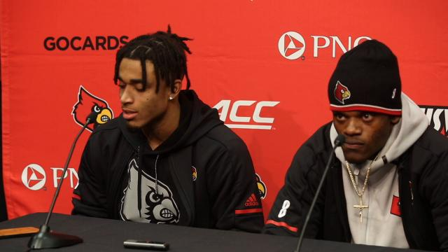 Louisville's Jaire Alexander helps explain the difference between the juice and the sauce.