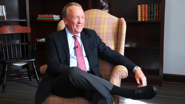 Interim President Greg Postel sits down to talk about life growing up, his transition out of clinical medicine and his love for administration.