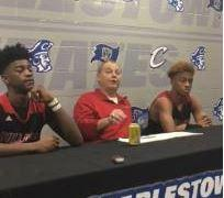 New Albany coach Jim Shannon talks about the Bulldogs' 110-36 win over Charlestown and coaching five-star guard Romeo Langford.