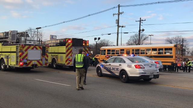 More than 40 students were injured and taken to hospitals Thursday morning in a Dixie Highway crash involving three JCPS school buses.