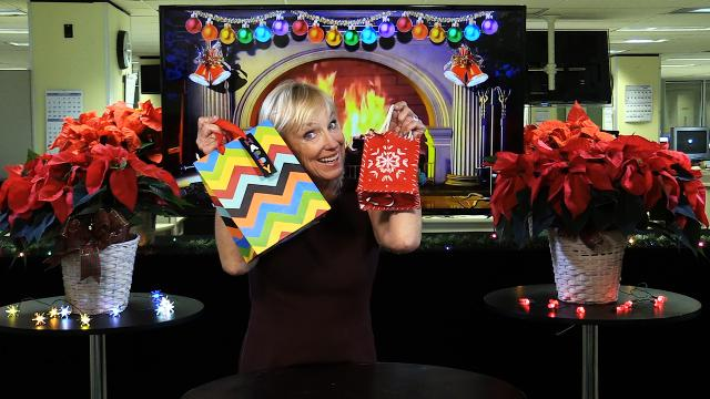 Kirby Adams shows you how to use old wrapping paper instead of just tossing it.