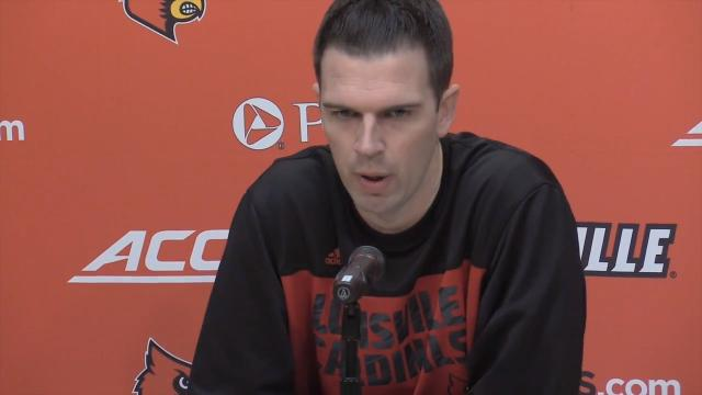 U of L Coach David Padgett previews Memphis in the Gotham Classic at Madison Square Garden