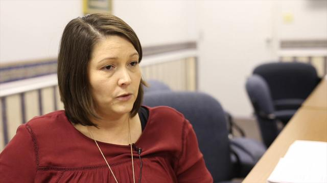 Nurse administrator Elizabeth Turner discusses the Kentucky River Health Department's needle exchange program that is currently operating in Owsley and Lee counties and is approved in Wolfe, Letcher and Perry counties.
