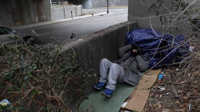 Daniel McStoots was one of the homeless residents evicted from the Floyd and Jefferson homeless camp. An anonymous citizen paid for Mcstoots to have four nights in a hotel, but afterwards, he went back to braving freezing Louisville temperatures.