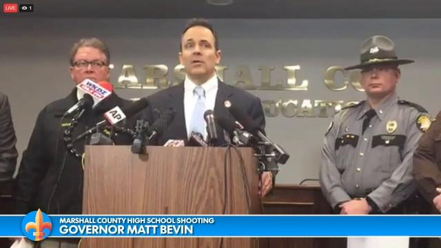 Kentucky Gov. Bevin discusses the Marshall County High School shooting