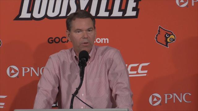 U of L interim Athletic Director Vince Tyra talks about restructuring, staffing and donors for the athletic department. Feb. 8, 2018