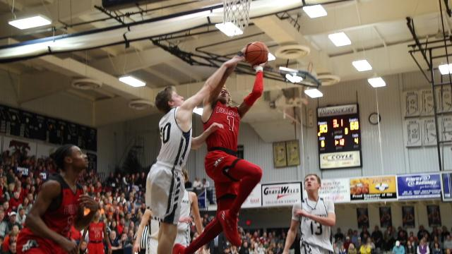 Langford, who is being heavily recruited by Indiana, Vanderbilt and Kansas, put on a show against Providence Friday night, including this dunk between four defenders.