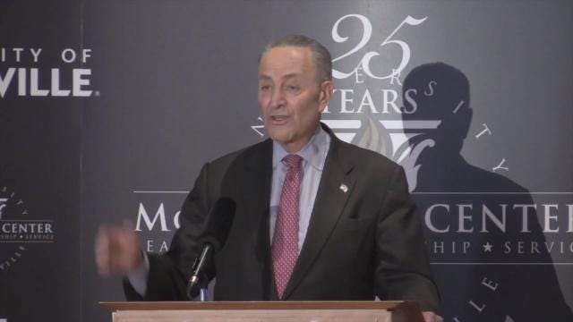 Sen. Chuck Schumer, D-NY, visited the University of Louisville on Monday to speak at the McConnell Center, where he discussed whether Democrats can retake the House and Senate during the midterm election.