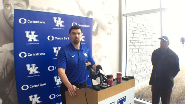 New UK OLB coach Brad White impressed by talent at his position
