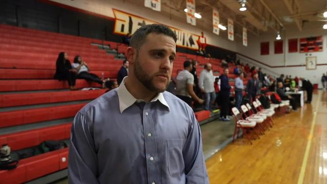 Aspire Academy is the newest high school basketball team in Louisville. Head coach Jeremy Kipness talks about win over Orangeville Prep.