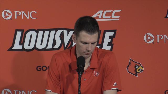 U of L's David Padgett talks about tough loss to North Carolina.