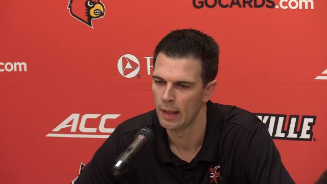 Padgett opened his press conference talking about the results of UofL's appeal to the NCAA and the losing of the 2013 Championship.