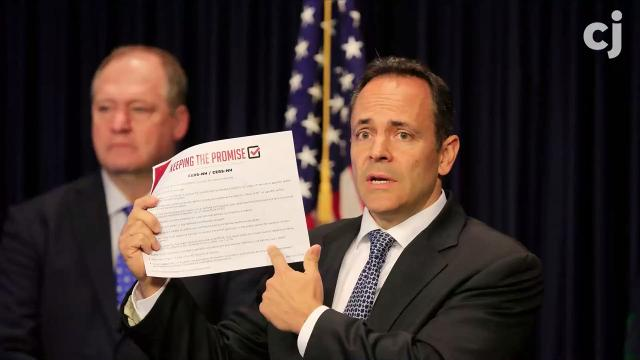 Kentucky Gov. Matt Bevin started the commonwealth's pension reform effort last year.