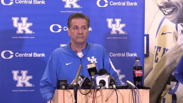 John Calipari doesn't take NCAA questions at Friday press conference