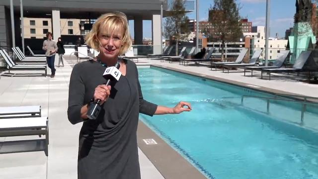 The Omni pool deck will be a cool place during Louisville's hot summers.