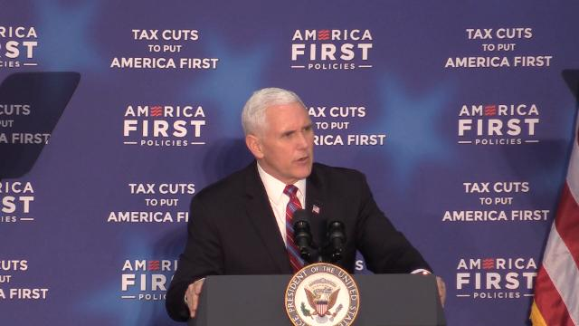 Vice President Mike Pence spoke to a crowd in Versailles on Wednesday afternoon about how recent tax cuts, pushed through by the Trump administration, have benefited Kentuckians. March 7, 2018