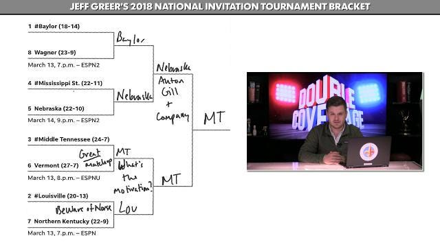 picture about Nit Bracket Printable titled Jeff Greer would make his NIT bracket options