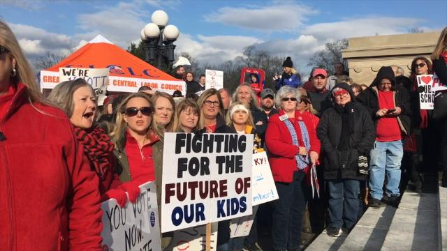 Teachers and other opponents of the bill flocked to the Capitol on Monday, March 12 for their biggest demonstration yet.