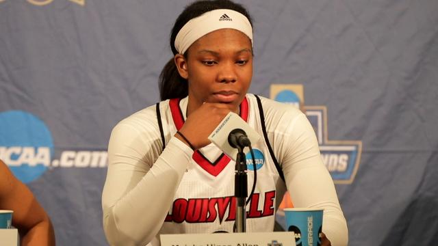 Louisville's Myisha Hines-Allen talks about her last home game after the Cards beat Marquette to advance to the Sweet 16.