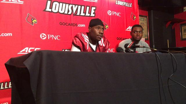 Louisville quarterback Jawon Pass and wide receiver Seth Dawkins discuss the team's first spring practice.