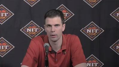 U of L coach David Padgett talked about the their loss to Mississippi State in the NIT and said he would start considering his future tomorrow.
